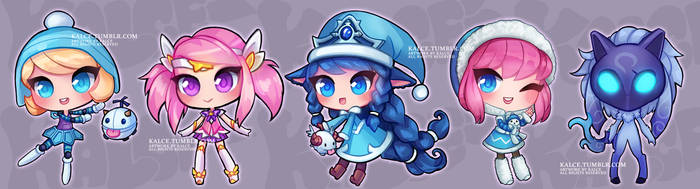 League of Legends Chibi Acrylic Charms 01 by Kalcedonyx
