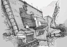 Env Design - PowerHouse/BrokenDam by alantsuei