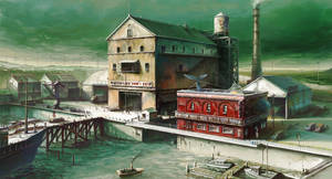 Town Design - Fish market and Sperm whale bar by alantsuei