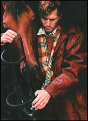 Man + Horse by caldwellart
