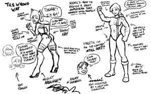 Half-Ass Tutorial: Respectable Sexy Superheroes by Neilsama