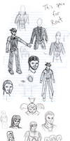 Fall 2010 Doodle Dump by SpiderPope