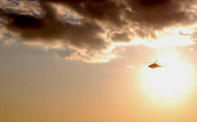 sun and helicopter by acizej