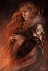 Fiery Sauron by Kaprriss