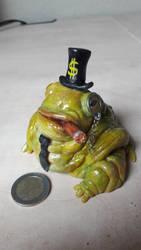 Wallstreet fat frog by D4rkharlequin
