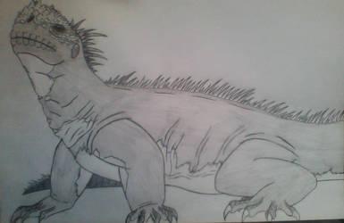Saurus (Iguana) by Evodolka