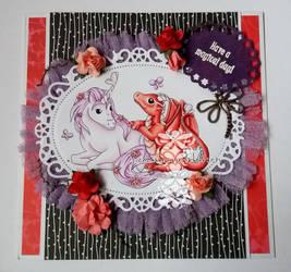 Unicorn and Dragon by SabrinaStamps