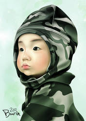 Painting: my nephew by Myme1