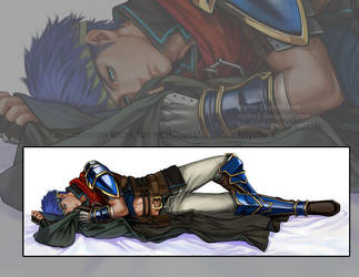 Dakimakura Commission: Ike by Myme1