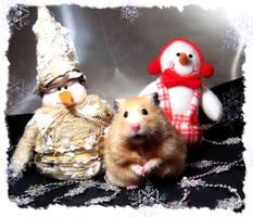 Three Snowmen 2 by puchikumo