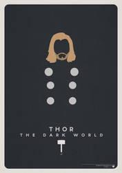 Minimalist Thor Poster by nicologomez