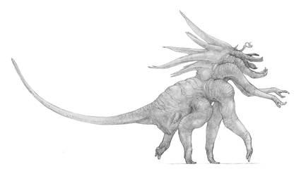 Giant alien beast by Monopteryx