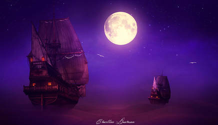 One travel beyond of the fantasy by CharllieeArts