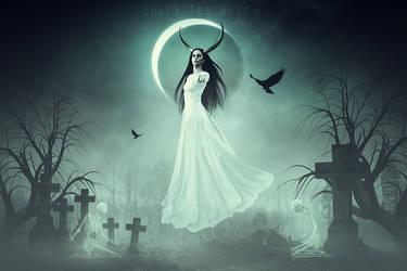 The Halloween Goddess! by CharllieeArts