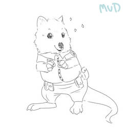 the littlest Quokka Cop by Mudkips-Waffles