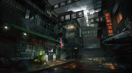 King Tong Street YAO by eWKn