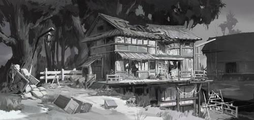 Plague Village by eWKn