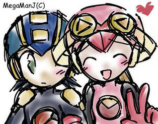 Roll and MegaMan by MegaManJ