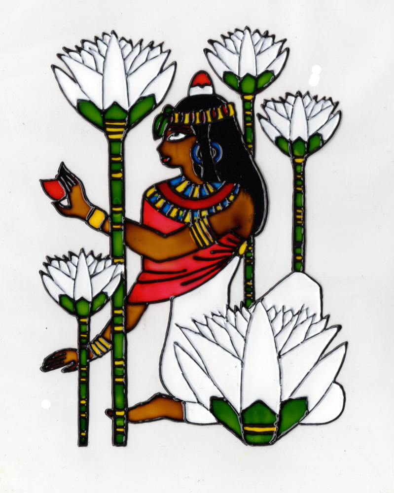 Ancient Egyptian Lady Among Lotus Flowers By Visualcreature94 On