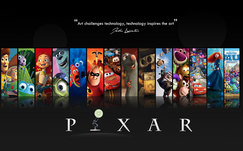 Disney Pixar Films Up Until 2013 Wallpaper By Dinomightpictures On