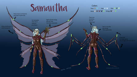 Character Sheet - Samantha (SC Fan Character) by Miaikon