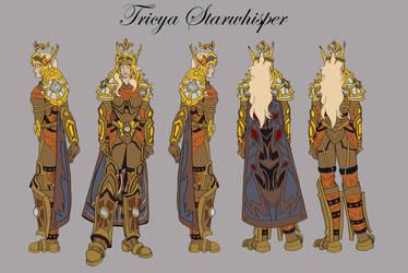 Character Sheet - Tricya Starwhisper by Miaikon