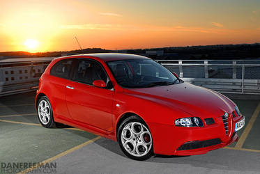Alfa 147GTA - Sunset 2 by DanFreeman