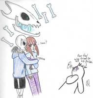 SansxFrisk - Jealousy by VelvetBlue15