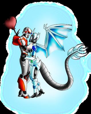 Be my valentine (snowdrop x ratchet) by The-Midnight-Knight