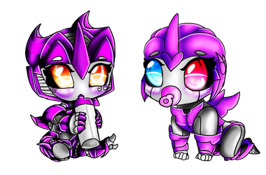 Baby elevern and carie by The-Midnight-Knight