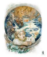 illustration The Hobbit chapter I. dwarfs song by DartGarry