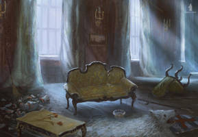 Mysterious Signs- living room by DartGarry