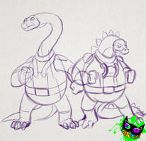Dinosaucers Sketches by Silent-Sid