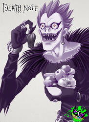 Death Note - Ryuk Fruits Bowl (2016) by Silent-Sid