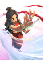 Two Sides - Katara by Blue-Ten