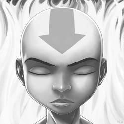 Aang - Facing the Fire by Blue-Ten