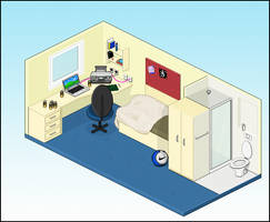 Pixel University Room by g2gigs