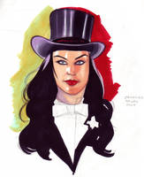 Zatanna study by DarthTerry