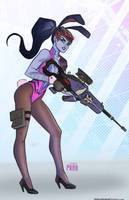 Widowmaker bunny by DarthTerry