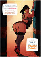 Chel - Golden Shower - Cartoon PinUp Commission by HugoTendaz