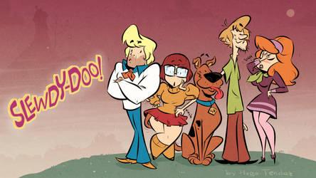 Scooby-Doo - Cartoony PinUp Lineup by HugoTendaz