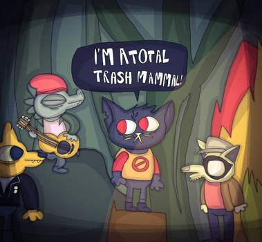 Total Trash Mammal. (NITW) by 21WolfieProductions