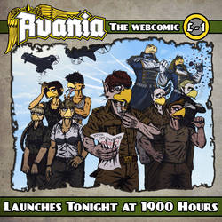 Avania Webcomic Launching TONIGHT by Tristikov