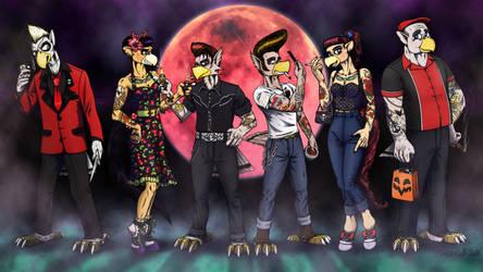 Avania Crew - Rockabilly Halloween by Tristikov