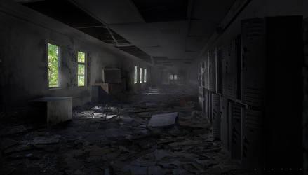 Zombie Hallway by VictorMosquera
