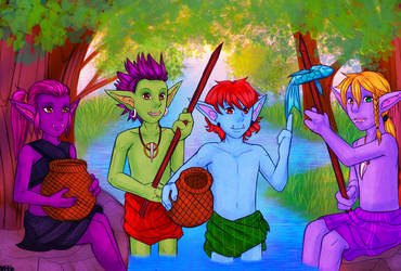 The kids are fishing by Ylfalita