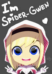 Chibi Gwen Stacy by JeyraBlue