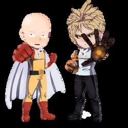 Saitama and Genos by JeyraBlue