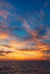 Sunset above Colonia de Sant Jordi by LukasSowada