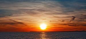 Sunset above the Mediterranean Sea by LukasSowada